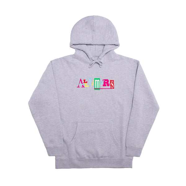SIN GOOD EMBROIDERED HOODY HEATHER GREY