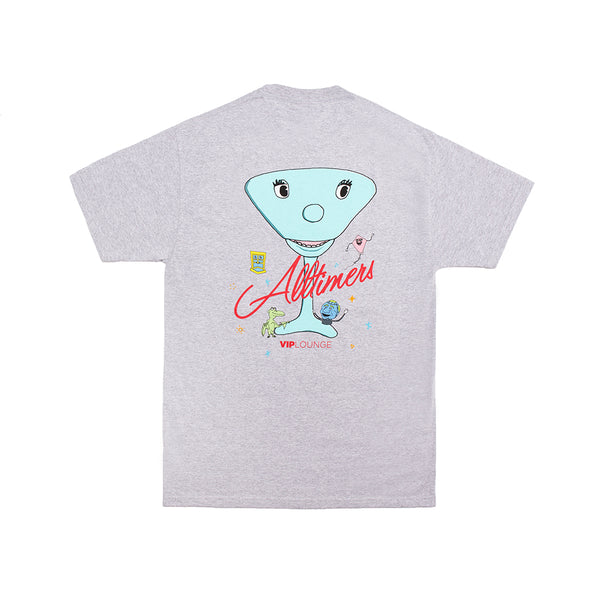 PEEWEE LOGO TEE HEATHER GREY