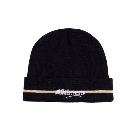 LINED ESTATE BEANIE NAVY