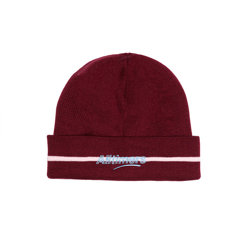 LINED ESTATE BEANIE BURGUNDY