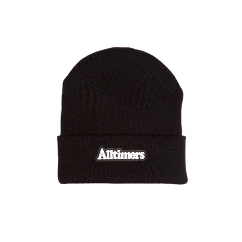 BROADWAY RUBBER BEANIE BLACK