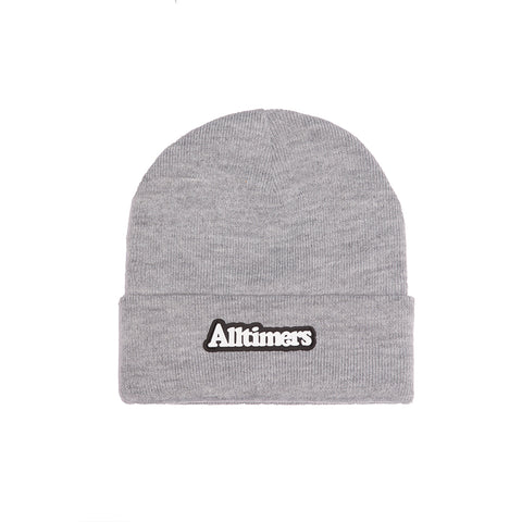 BROADWAY RUBBER BEANIE HEATHER GREY