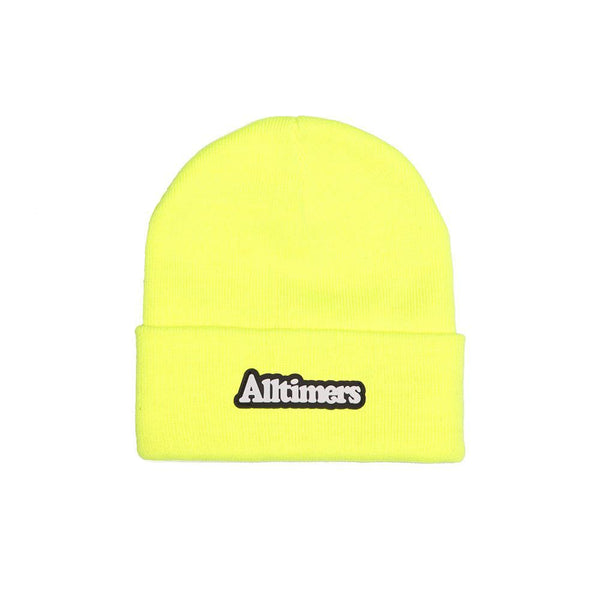 BROADWAY RUBBER BEANIE SAFETY GREEN – Alltimers f0bf553aff5