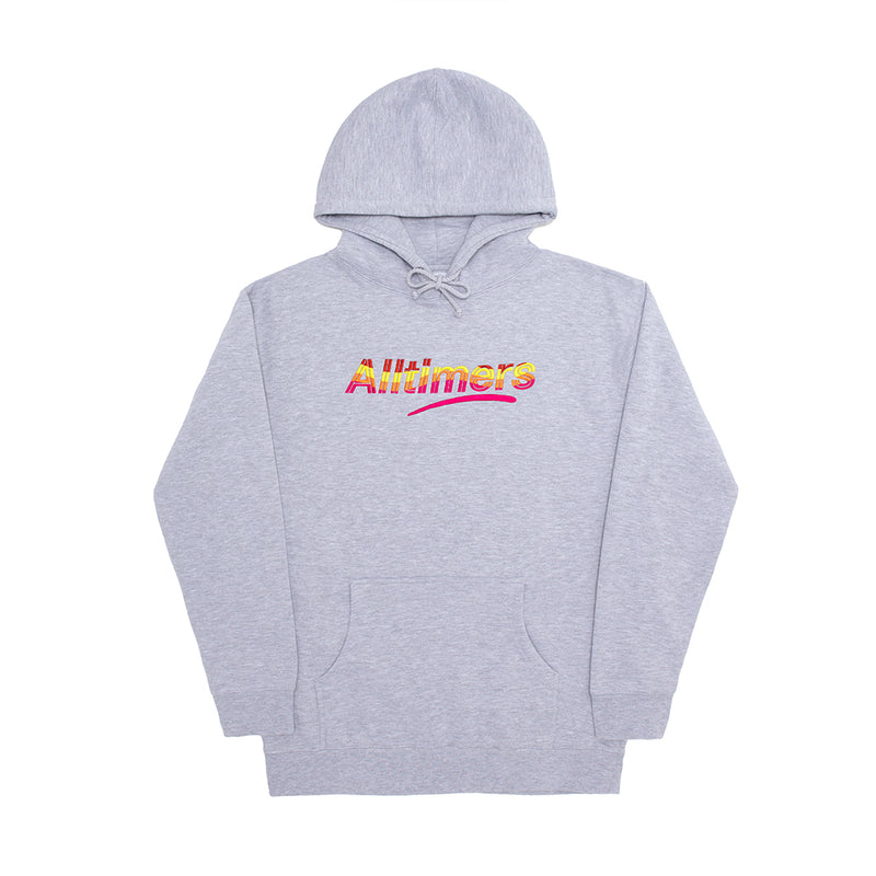 EMBROIDERED WAVE ESTATE HOODY HEATHER GREY