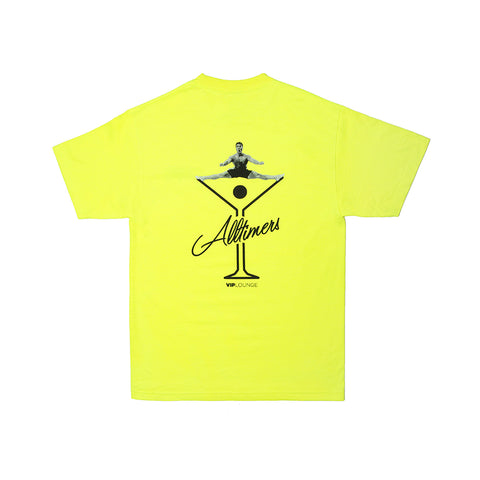SPLITS LOGO TEE SAFETY GREEN