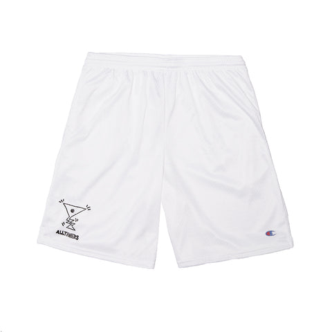 ACTION LOGO SHORTS WHITE