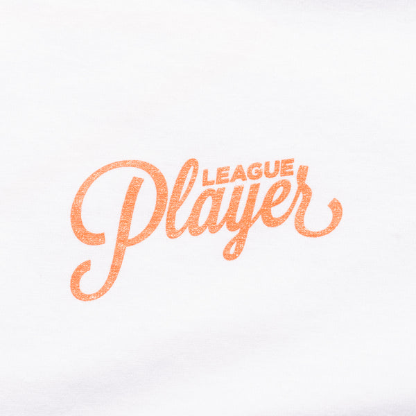 LEAGUE PLAYER TEE WHITE/ORANGE