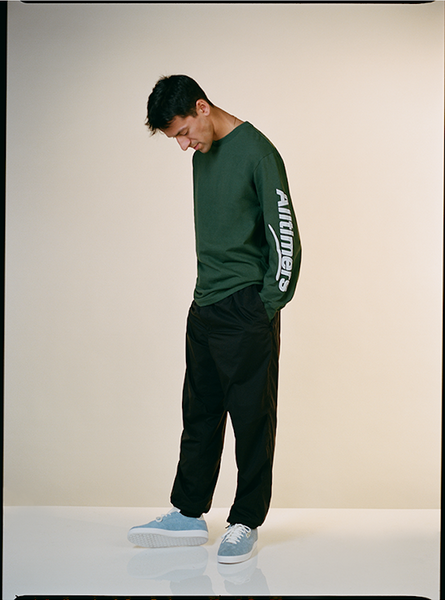 ESTATE PUFFY LONGSLEEVE TEE FOREST GREEN