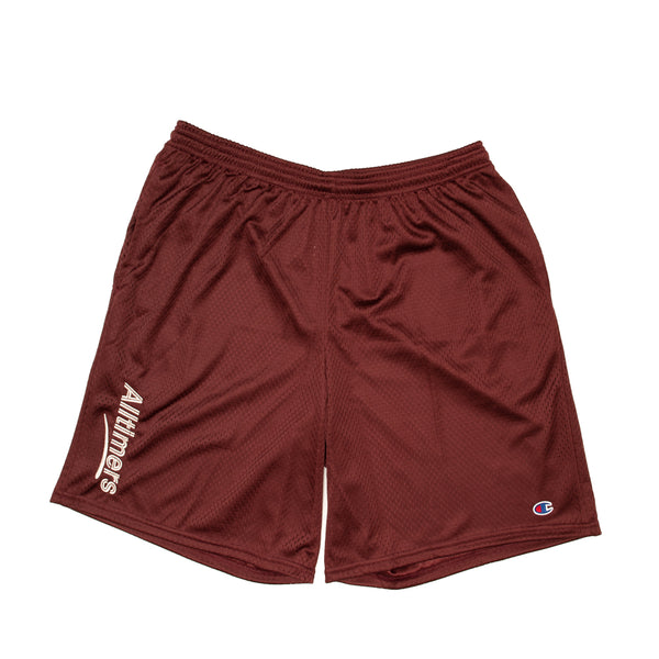 ESTATE EMBROIDERED SHORTS MAROON