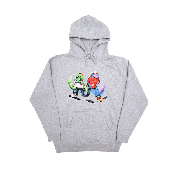 FOSSIL GANG HOODY HEATHER GREY