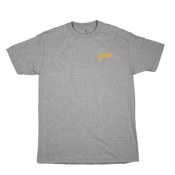 LEAGUE PLAYER TEE GREY/YELLOW