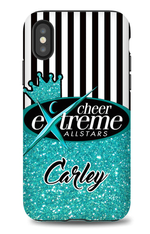 CASE-STRIPES & Faux Glitter