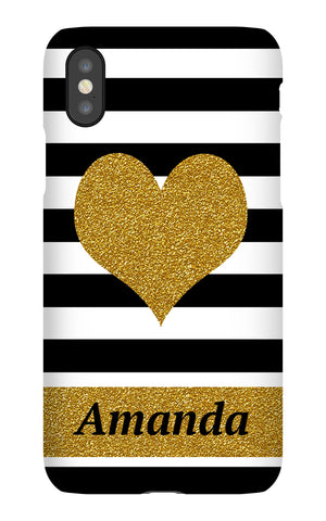 Heart Glitter Cell Case