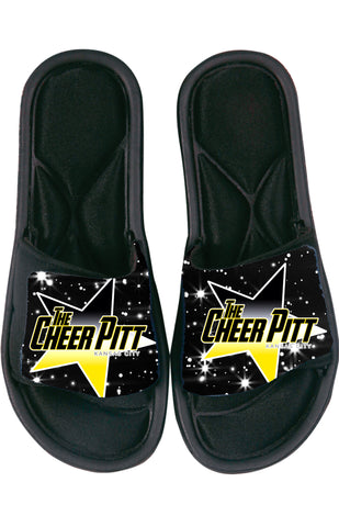 The Cheer Pitt SANDAL SLIDES (black)