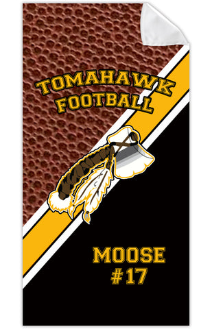 BEACH/BATH/POOL TOWEL-Tomahawk Football