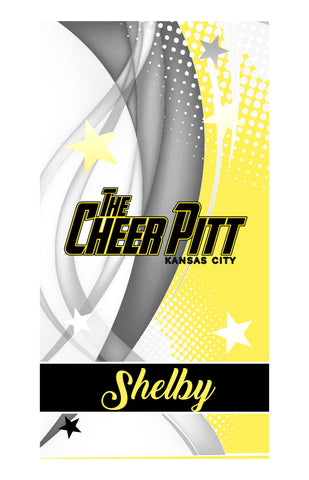 The Cheer Pitt BEACH/BATH/POOL TOWEL (yellow)