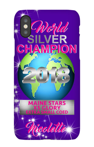 MAINE STARS SILVER Champion Case