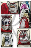 Reversible Sequins Drawstring Bag-Tomahawk Cheer
