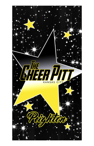 The Cheer Pitt BEACH/BATH/POOL TOWEL (black)