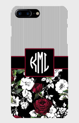Striped Floral Monogram