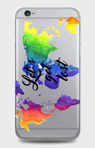 World Map Clear Case