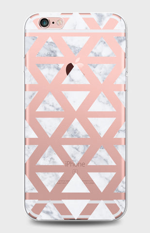 Triangle Marble Clear Case
