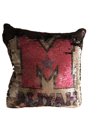 Maine Stars-Sequins Pillow Cover