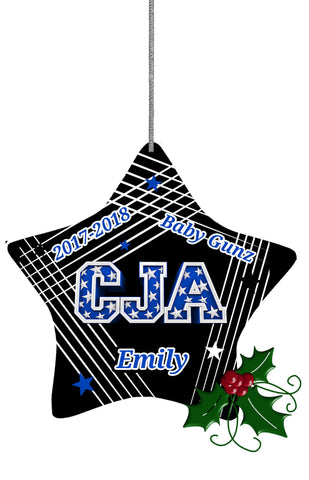 CJA STAR LINES ORNAMENT