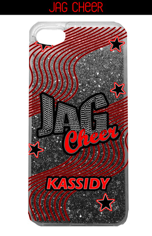 CASE-Jag Cheer Liquid Glitter Swirls