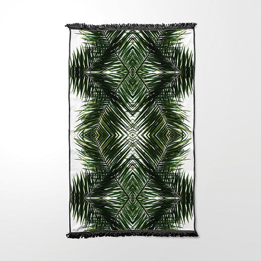 Beach Towel - Geometric Palm Frond