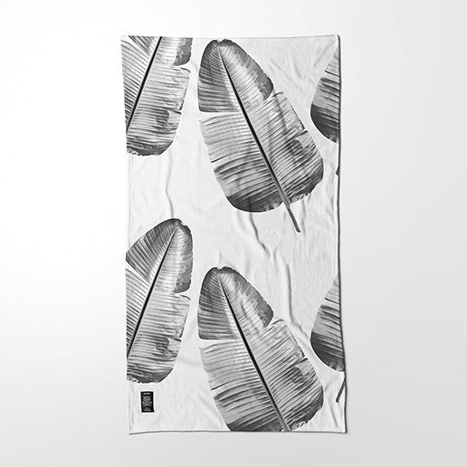 Towel - Wild Strelitzia (black & white)