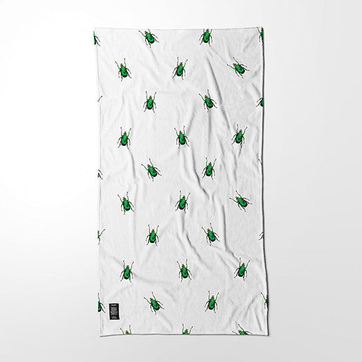 Bath Towel - Emerald Scarab