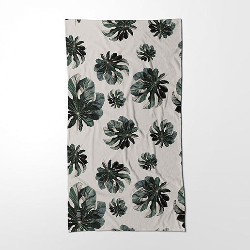 Bath Towel - Jungle Cecropia (greige)