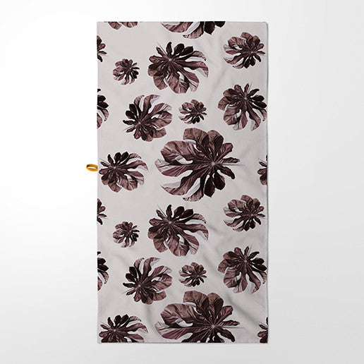Kitchen Towel - Jungle Cecropia (Burgundy & Pink)