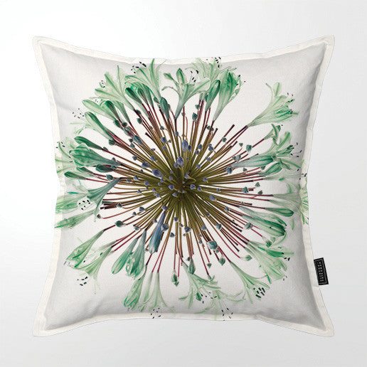 Scatter Cushion (Single sided print) - Green Agapanthus
