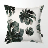 Scatter Cushion (Single sided print) - Jungle Cecropia  (greige)
