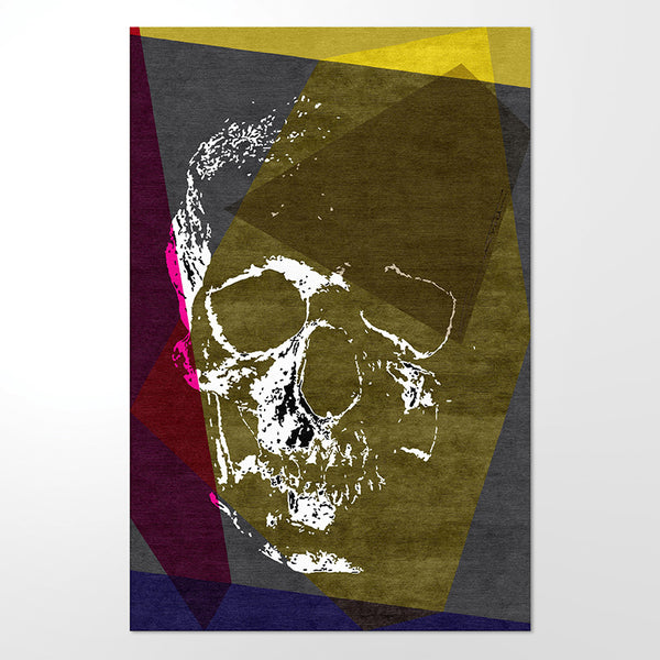 "Hand Tufted, 100% Wool Rug - ""Skull no.1"""