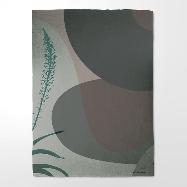 "Hand Tufted, 100% Wool Rug - ""Suba-culture 05"""
