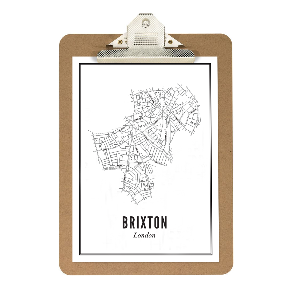 Brixton - London kaart - wijck prints