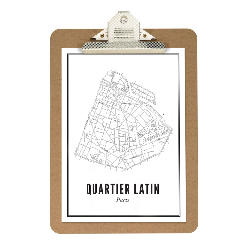 Quartier Latin - Paris kaart - wijck prints