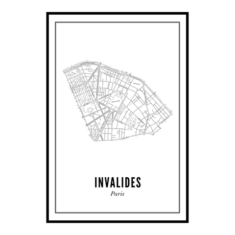 Invalides - Paris kaart - wijck prints