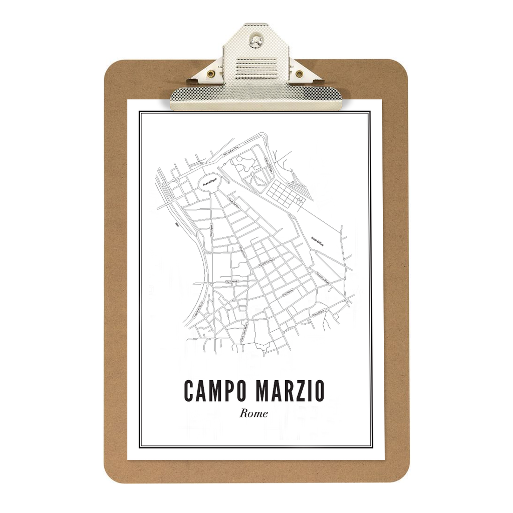 Campo Marzio - Rome kaart - wijck prints