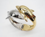 Two Tone Quality Twin Dolphin Bangle