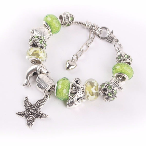 Turtle/Starfish/Dolphin Bracelet & Charms
