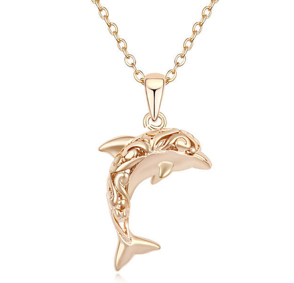 18K Gold Plated Dolphin Necklace and Pendant