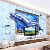 Custom 3D Marine Dolphin Wallpaper - Price Per Square Metre