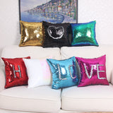 Magical Reversible Sequin Throw Pillow Case