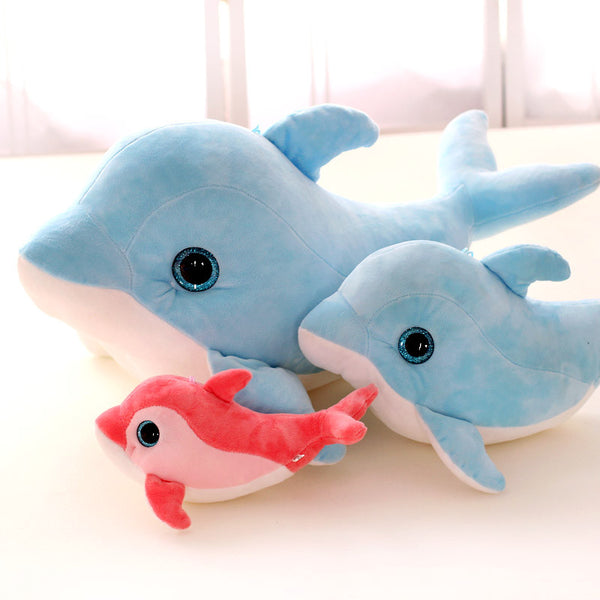 Cartoon 3D Eyes Dolphin Plush Toys - 25cm