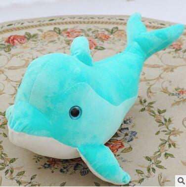 Lovely Light Green Dolphin Plush Toy - 25cm