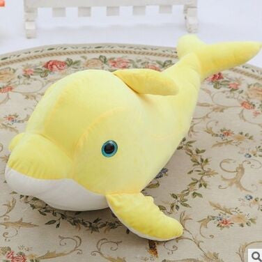 Lovely Yellow Dolphin Plush Toy - Large 80 cm